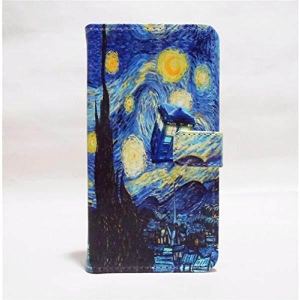 Galaksi S3 MINI Dompet Case-TARDIS Biru Police Panggilan Kotak Vincent Van Gogh Starry Nigh Pola Ramping Dompet Kartu lipat Penyangga PU Kulit Kantung Case Sarung Anda Samsung Galaksi S3 MINI-Internasional