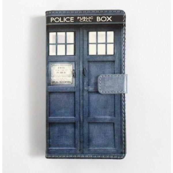 Galaksi S5 Case-TARDIS Biru Police Panggilan Kotak Pola Ramping Dompet Kartu Lipat Penyangga PU Kulit Kantung Case Sarung untuk Samsung Galaksi S5/Galaksi SV/Galaksi S V-Keren Sebagai Hadiah Hebat-Internasional