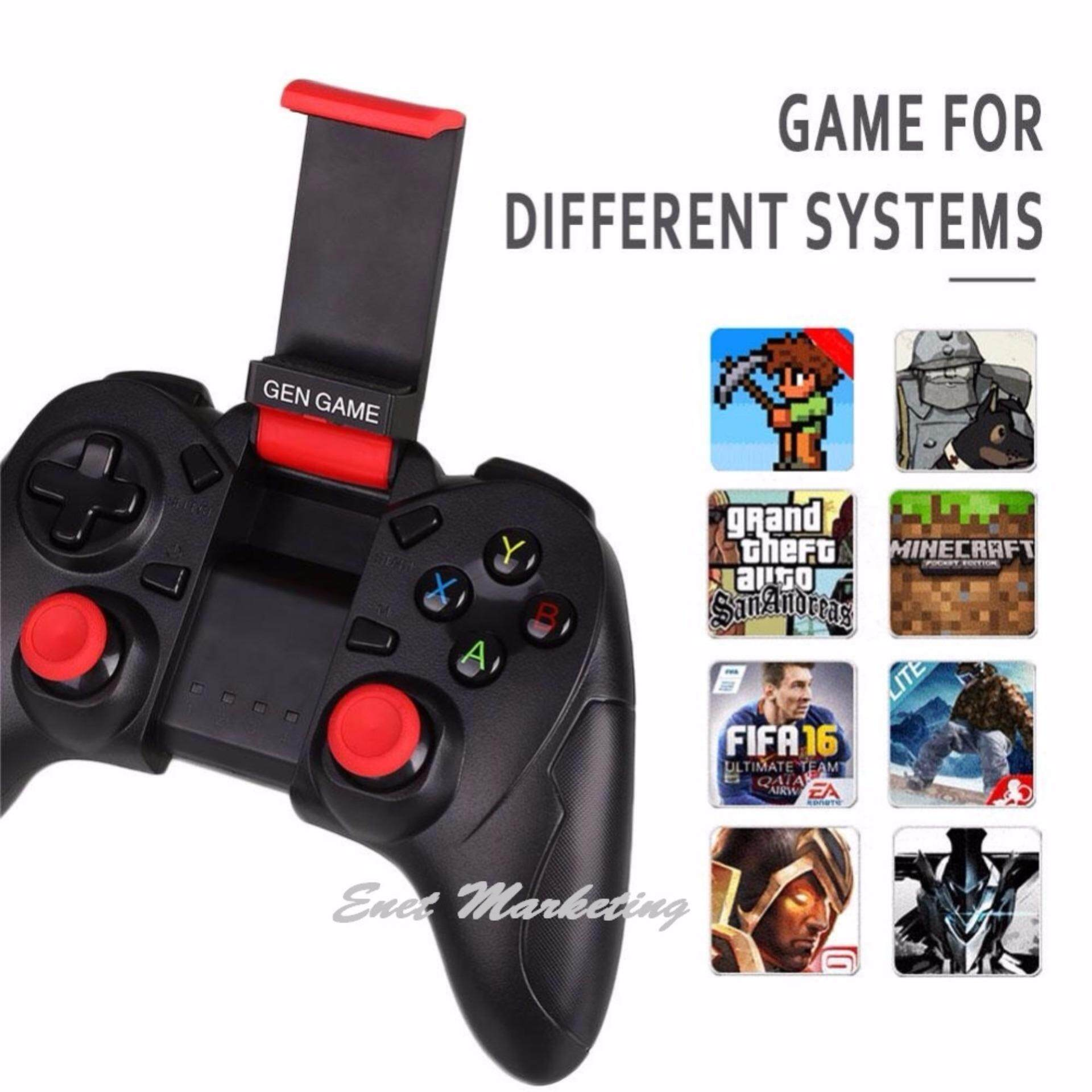 GEN GAME S6 Wireless Bluetooth Game Console Controller Gamepad Joystick with Clip Holder **Free x1 Fling Mini Joystick**