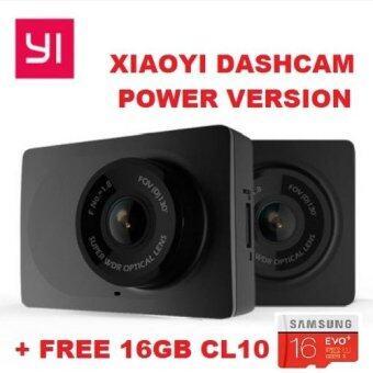 "[GENUINE] 2017 XiaoYi Yi BLACK POWER VERSION Car Dashcam 1080P FHD 30fps 130 Degree Angle Car WiFi DVR 2.7\"" Screen + 16GB SANDISK ULTRA CL10 80mb/s Bundle"