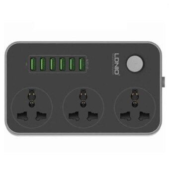 Harga [GENUINE] LDNIO SC3604 Power Strip with 3 AC Sockets + 6 USB Ports(Black)