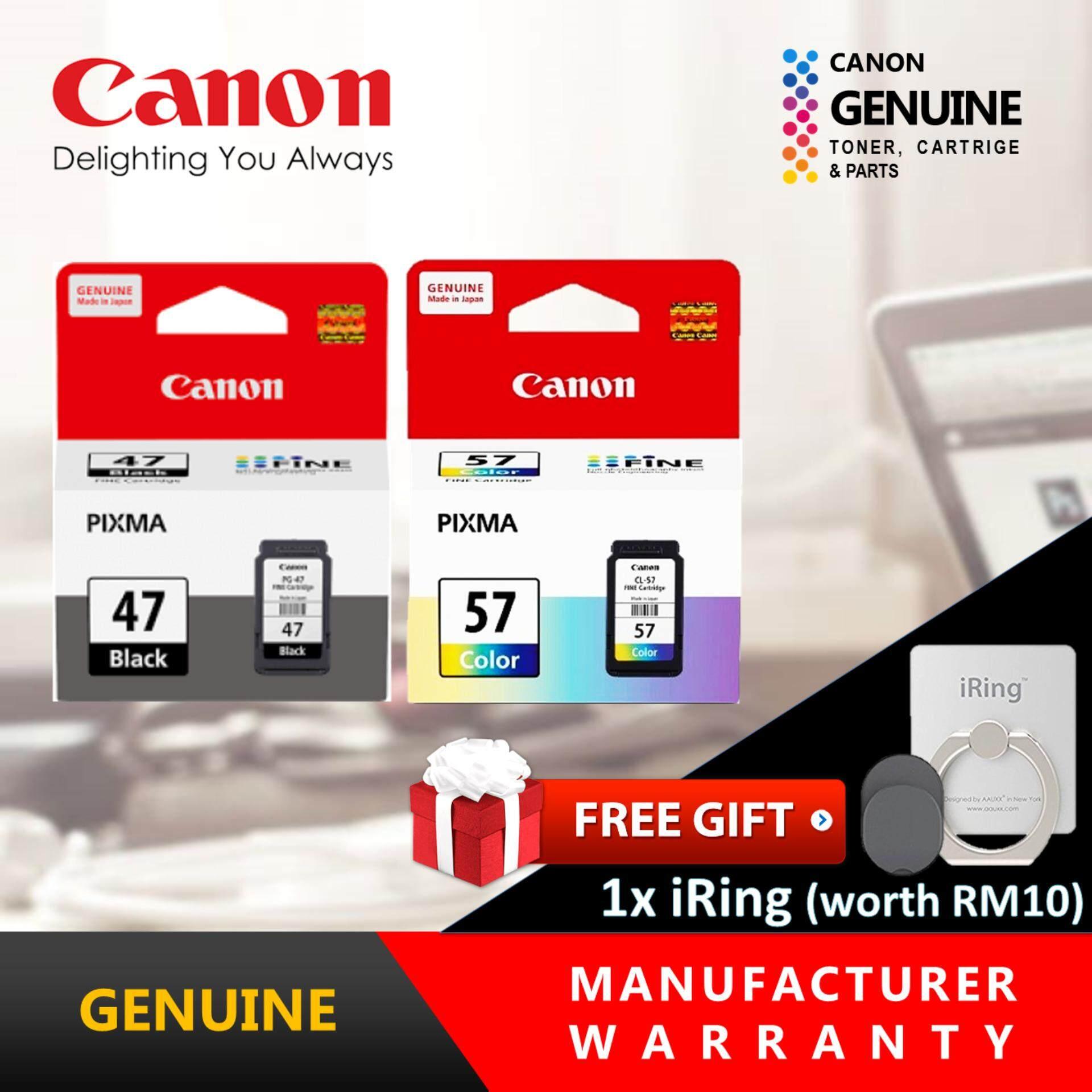 Inkjets Inks By Canon Ulasan Penarafan Dan Harga Terbaik Di Kl Cl 57 Original Cartridge Genuine Ink Pg 4715ml 5713ml
