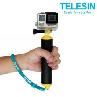 (Genuine) TELESIN Strong Grip Floaty Bobber for GoPro Hero 4 3+Sessions - YELLOW