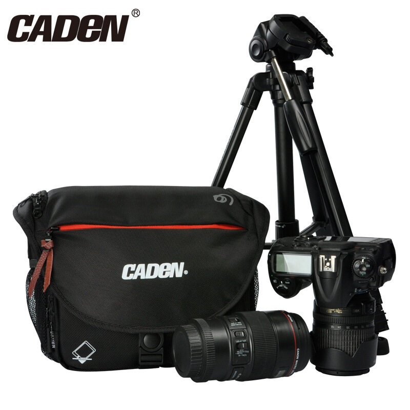 Genuine Caden Dslr Camera Shoulder Bag Portable Fashion Polyester Camera Case For 1 Camera 2 Lenses And Small Accessories For Canon Nikon Sony Intl Asli