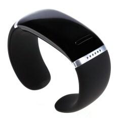 Gosport Bluetooth Pergelangan Tangan Gelang Pintar Jam Tangan untuk Samsung IPhone (Hitam)