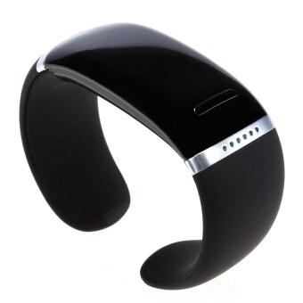 Gosport Gelang Bluetooth Gelang Jam Tangan Cerdas untuk Samsung Iphone ( Hitam)