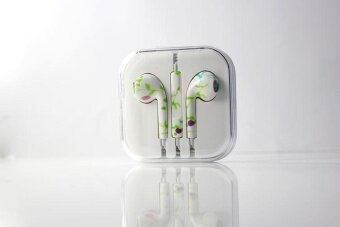 Harga GetmeePrinted with Wheat Thread Original Wired In-Ear Earphones forApple IPhone 5 5C 5S 6 6S 6 Plus 6S