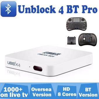 Gifi+UNBLOCK 4 BT PRO android tv box can creat free PC Tablet Phone live Ubvod app Android IOS Free shipping IPTV STB Bluetooth ubox4 A53 8 cores 16G flash plug to watch free channels
