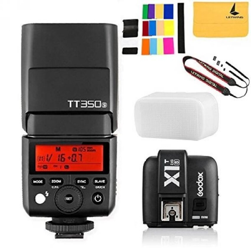 GODOX TT350S Mini Flash TTL HSS 1 / 8000s 2.4G wireless with X1T-SFlash Trigger Transmitter 2.4G Wireless Remote Transmitter for SonyMirrorless Camera Cameras a7R a58 a99 ILCE6000L a77II RX10 - intl
