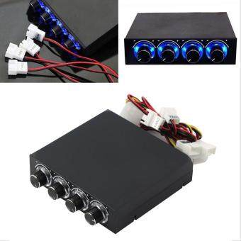 GOOD 3.5inch PC HDD CPU 4 Channel Fan Speed Controller Led Cooling Front Panel Malaysia