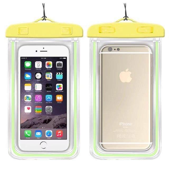 Kualitas Baik Anti-Air Telepon Tas untuk Alcatel Pixi 4 (6.0) 3G 8050D Lembut Bening Kantung Case Olahraga Menyelam (Cocok untuk Bayi 6 Inches Di Bawah)-Internasional