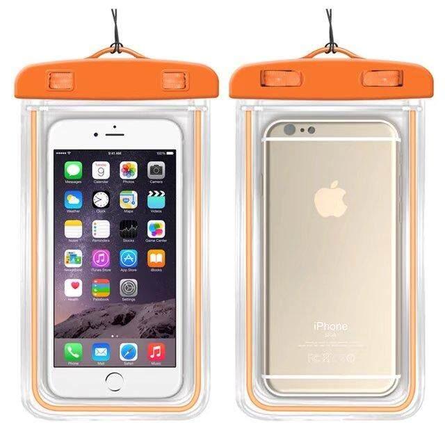 Kualitas Baik Anti-Air Telepon Tas untuk Samsung Galaksi J7 Maksimum Lembut Bening Kantung Case Olahraga Menyelam (Cocok untuk 6 inches Di Bawah) -Internasional