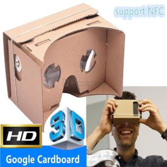 Harga Google Cardboard VR 3D Glasses Android iOS Phone (With NFC Support)