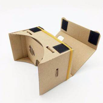 Harga GOOGLE VR DIY Cardboard 3D Glasses for Android & iOS MobilePhone Virtual Reality Kit