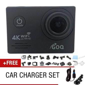 GOQ SJ7000 4K Wifi Action Sports Camera 16MP Waterproof Cam Camcorder (Black) FREE Car