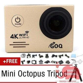 GOQ SJ7000 4K Wifi Action Sports Camera 16MP Waterproof Cam Camcorder (Gold) FREE Octopus