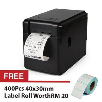 GPRINTER 2 in 1 GP2120TF Label Barcode Printer Thermal 58mmClothing Receipt Roll + Free 400pcs 4030 Labell Roll