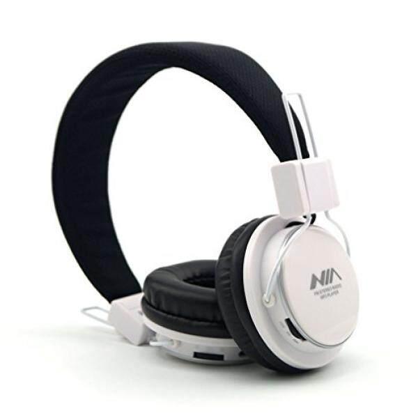 Granvela A809 Ringan Dilipat Stereo Headphone Dapat Disesuaikan Ikat Kepala Anak-anak Headset dengan Dibangun Di-Dalam FM Radio, Mikro Sd Kartu Pemutar, 3.5 Mm Mendongkrak untuk iPhone, iPad, Android, Buah dan Lebih-Putih-Internasional