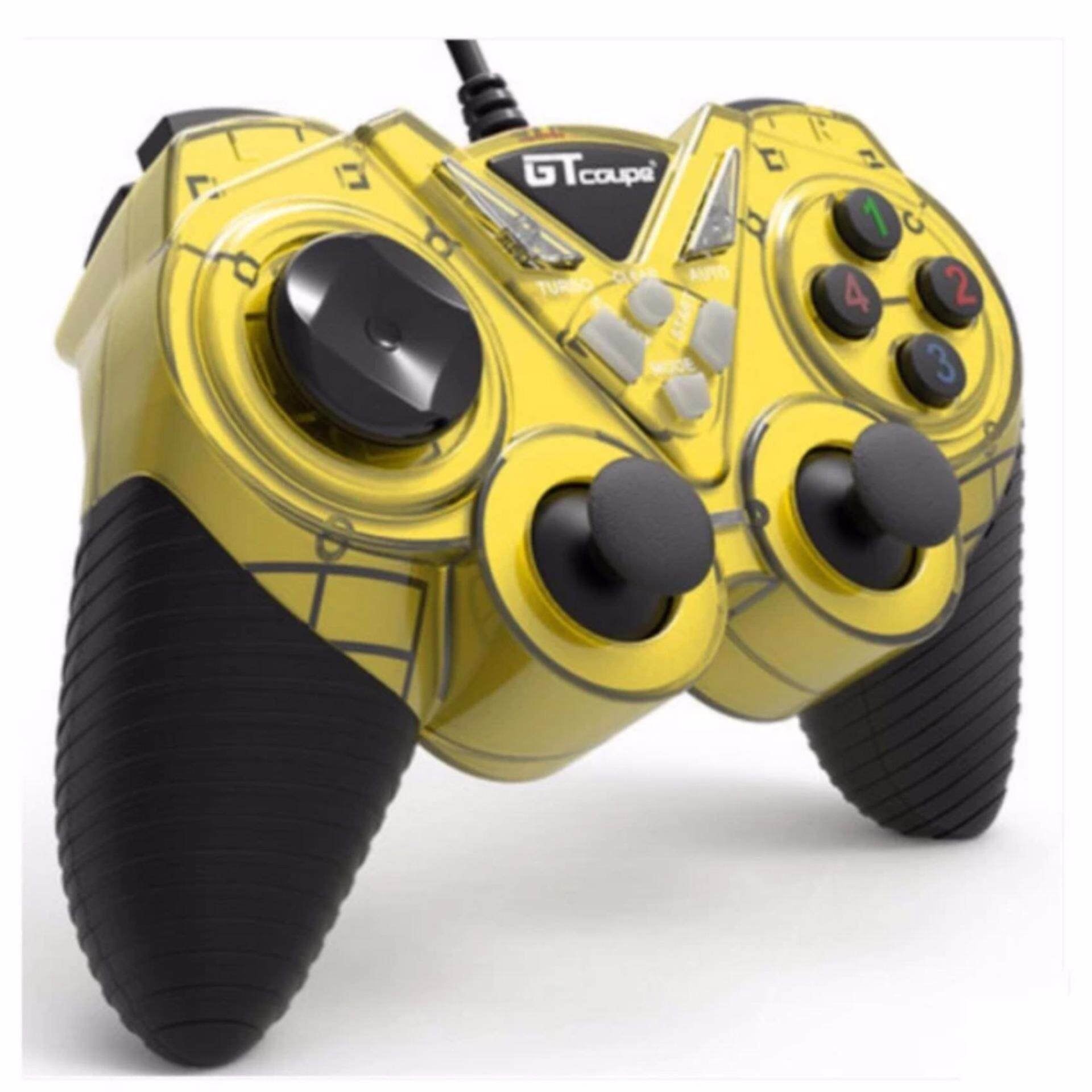 GT Coupe X6 vibrates Shock USB Game Controller with Turbo For PC / Laptop