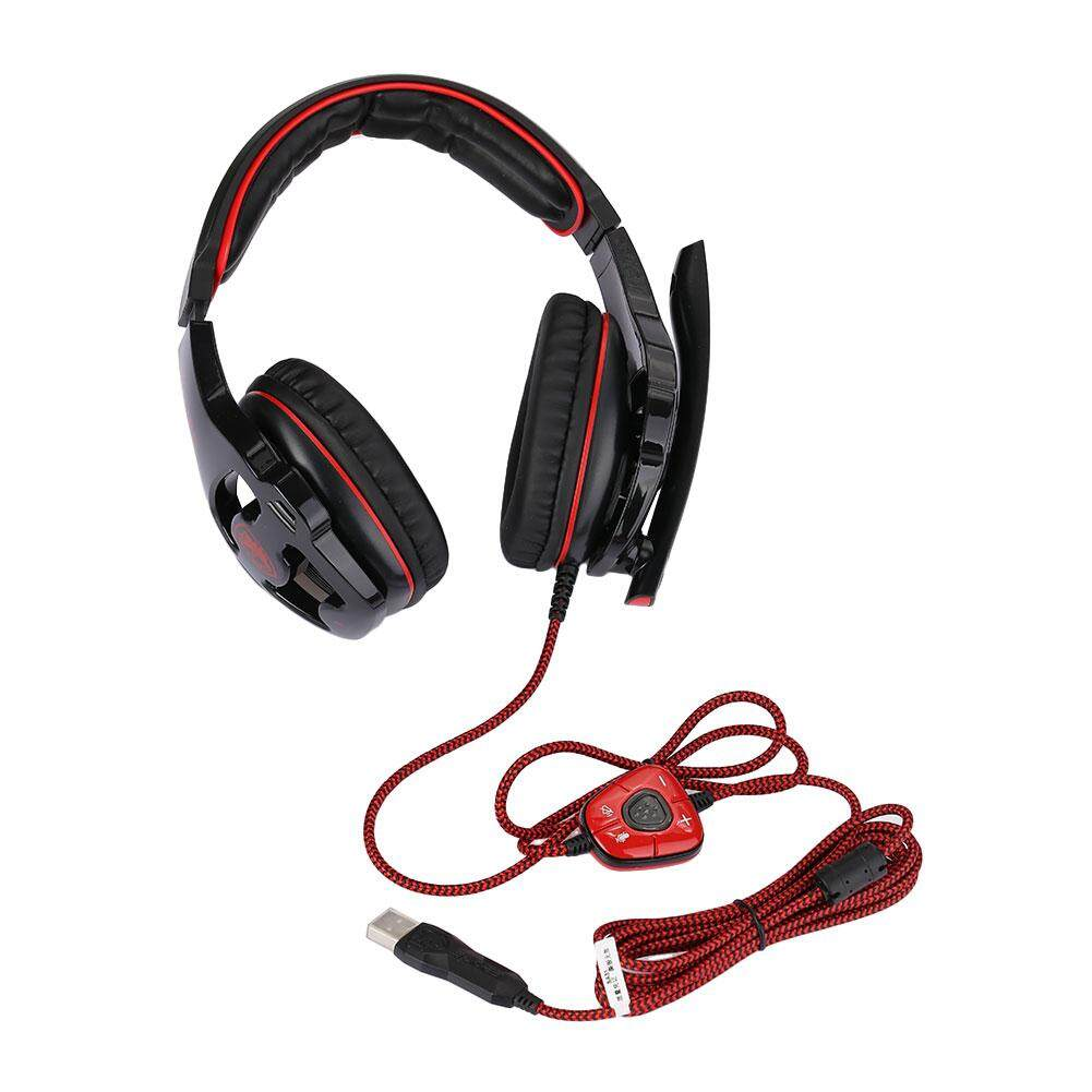 Happy Weekend USB Wired 7.1 Surround Sound Effect Headphone Pro Gaming Headset For SADES SA903 - intl