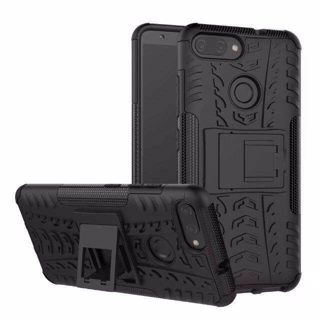 Hard Plastic Tpu Hybrid Combo Armor Back Protective Cover Case For Asus Zenfone Max Plus M1 X018Dc Zb570Tl Black Intl ถูก