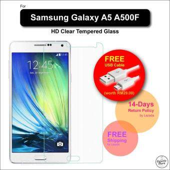 HD Samsung Galaxy A5 A500F Tempered Glass Screen Protector FREE Micro USB Cable