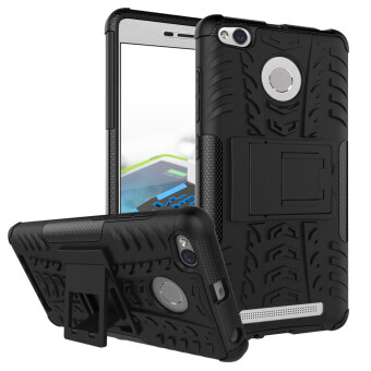Heavy Duty Rugged Hybrid Dual Layer Kickstand Shockproof Case Protective Cover Case for Xiaomi Redmi 3s