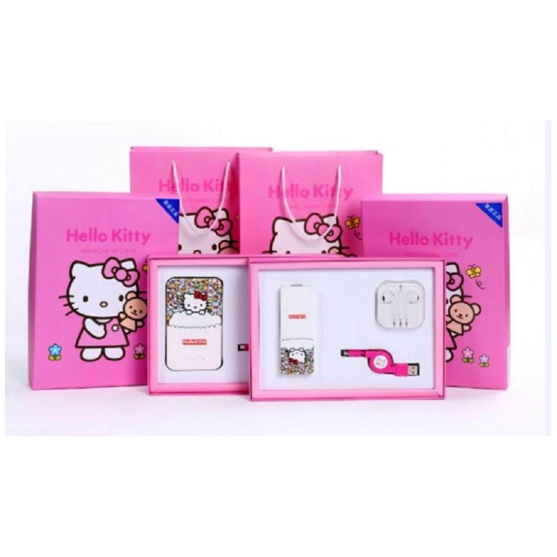 Hello Kitty Premium 8800 mAh Powerbank, Earphone, Date Cable,Paper Bag