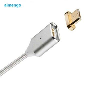 Harga High Quality Magnetic Micro USB cables for Smartphone Asus LenovoLG Data Charger Cable for Meizu Motorola Oneplus OPPO ZTE(Silver)