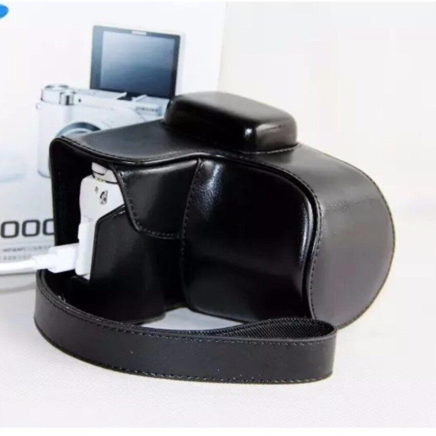 High Quality Professional PU Leather Camera Bag CaseForSamsungNX3000 20-50mm With Leather Shoulder Strap Camera Cover HAO YUAN KE JI 042 - intl