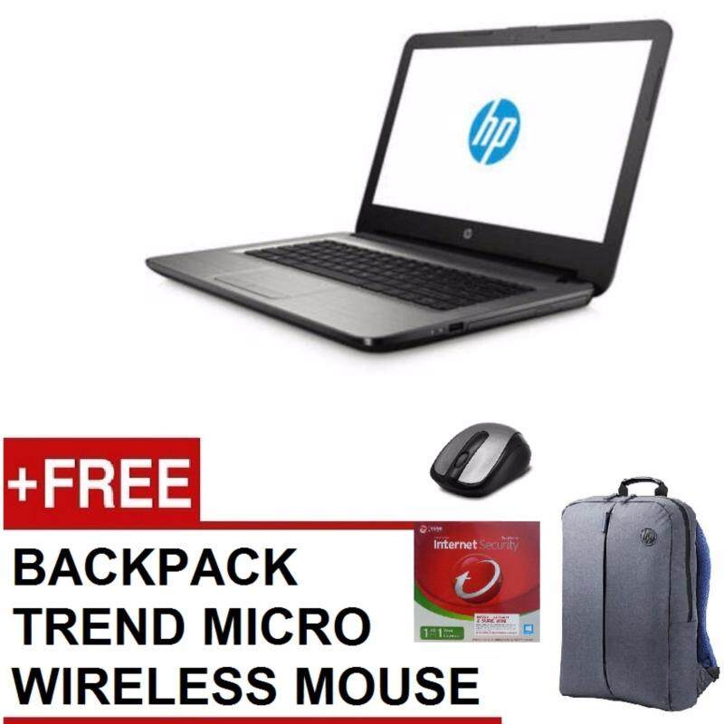 HP 14-BS537TU / 14-BS538TU NOTEBOOK (N3060,4GB DDR3L,500GB,DVD,WIN10,1 YEARS WARRANTY) FREE BACKPACK + TREND MICRO + WIRELESS MOUSE Malaysia
