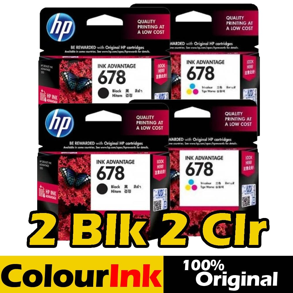 Colourink New Arrival Casio Baby G Ba 112 1a Hitam Hp 678 Original 2xblack 2xcolour Cz108aa Cz107aa 1515 2515 2645