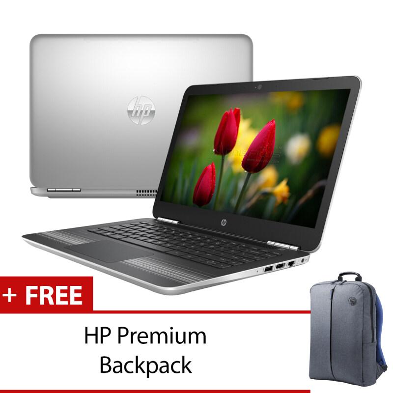 HP Pavilion 14-AL103TX (X9K32PA#UUF) Silver + HP Premium Backpack Malaysia
