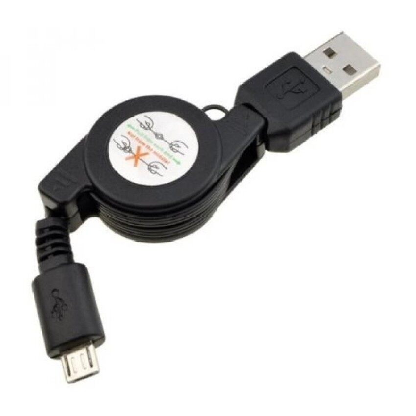 HTC DROID Incredible USB DataSync and Retractable Cable with Micro USB for HTC DROID Incredible - intl