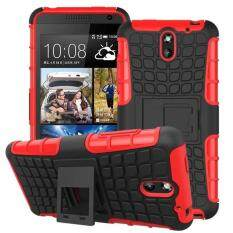 Hybrid Armor Rugged Hard Case Cover Stand Skin For HTC Desire 610 Red