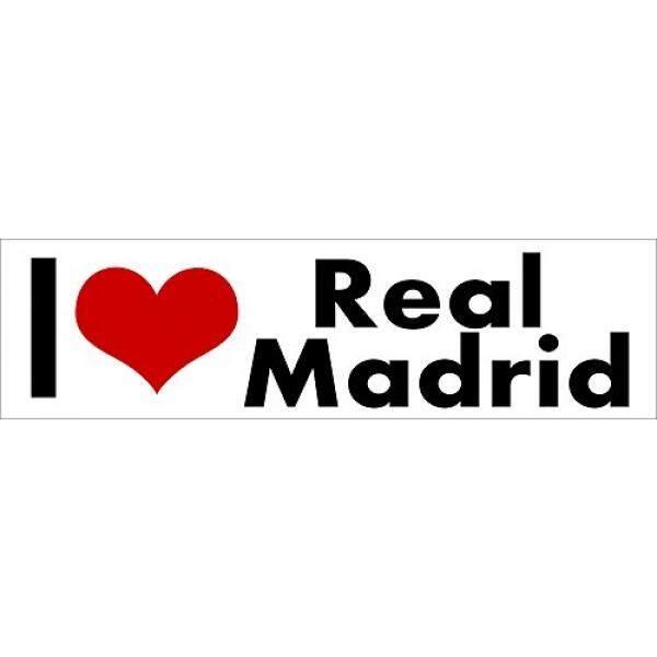 i Love Real Madrid STICKER DECAL VINYL BUMPER Spain FC Football Soccer Fan Club DÉCOR CAR TRUCK LOCKER WINDOW WALL NOTEBOOK - intl