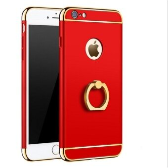 Harga I Tech 3 in 1 Ultra Slim Metal Hybrid Anti-skidding Hard Back CaseCover With Ring Kickstand for Apple iphone 6/6S (Red)