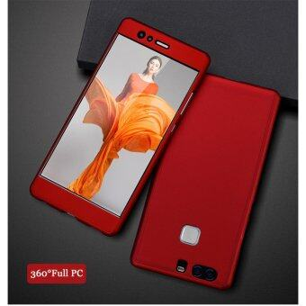 I Tech 360 Degree Full Body Protection Cover Case With Tempered Glass for Huawei P9 Plus (Red)