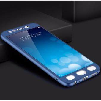 I TECH 360 Degree Full Body Protection Cover Case With Tempered Glass for VIVO V5 / V5s / Y66 (Blue)