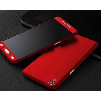 Harga I Tech 360 Degree Full Body Protection Cover Case With TemperedGlass for Oppo A37 (Red)