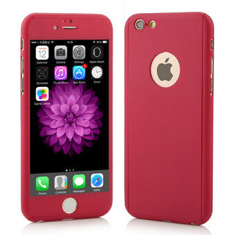 Harga I Tech 360 Degree Full Body Protection Cover Show Logo Case WithTempered Glass For iPhone 5/5S/5SE (Red)