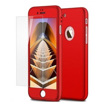 Harga I Tech 360 Degree Full Body Protection Cover Show Logo Case WithTempered Glass For iPhone 7 Plus (Red)