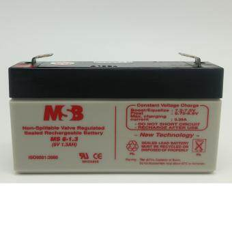 Harga MSB 6V 1.3AH Rechargeable Sealed Lead Battery (MS6-1.3)
