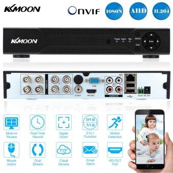 Harga KKMOON 8CH Channel Full 1080N/720P AHD DVR NVR HDMI P2P Cloud Network Onvif Digital Video Recorder support Plug and Play Android/iOS APP Free CMS Browser View Motion Detection Email Alarm PTZ for 2000TVL CCTV Security Camera Surveillance System