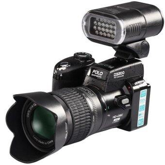 Harga D3200 Professional Digital Camera 16MP High DefinitionWith LED Spotlight 3inch HD LTPS LCD - Intl