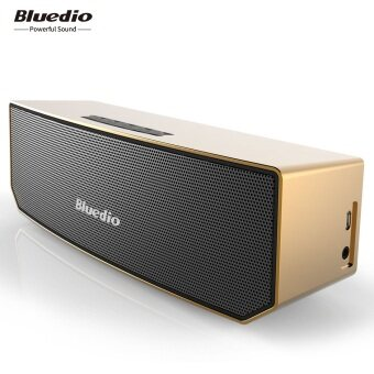 Harga Bluedio BS-3 Bluetooth Wireless Speaker with Microphone (Gold)