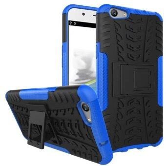 Harga TPU + PC Armor Hybrid Case Cover for OPPO F1S (Blue)