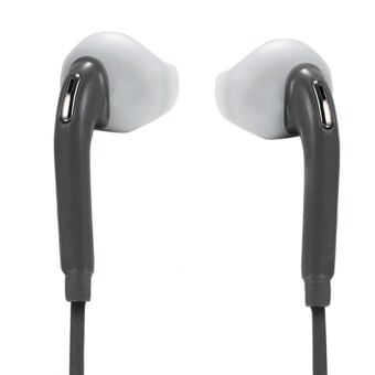 Harga Jo.In New 1PC Double Ear Earphone Phone Headset Headphone with Mic Earbud 3.5mm Jack(Black)