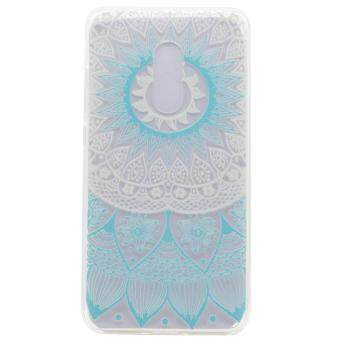 Harga Moonmini Case for Lenovo K6 Note Ultra Slim Soft Back Case - Blue Flower Pattern