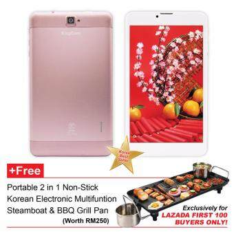 Harga KingCom Pi PHONE OCTAN 7 inch Tablet (Rose Gold) +FREE Korean 2in1 Electronic Steamboat & BBQ Grill Pan **Exclusively for LAZADA FIRST 100 BUYERS ONLY!